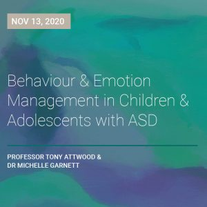 LIVE WEBCAST: Emotion Management for Children and Adolescents with Autism